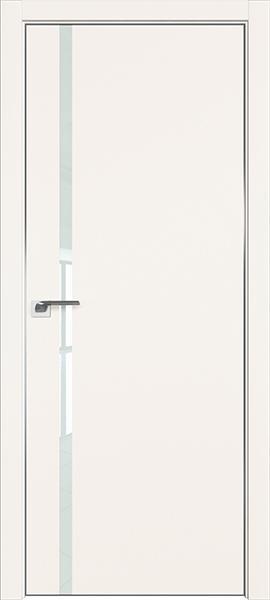 Дверь профиль дорс 22Е Дарк вайт - со стеклом