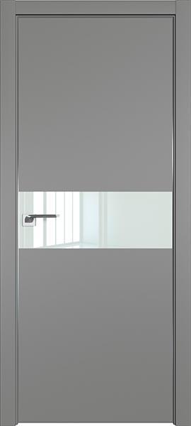 Дверь профиль дорс 4Е Грей - со стеклом