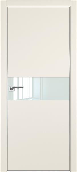 Дверь профиль дорс 4Е Магнолия сатинат - со стеклом