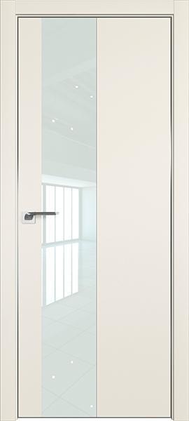 Дверь профиль дорс 5Е Магнолия сатинат - со стеклом