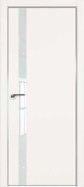 Дверь профиль дорс 6Е Дарк вайт - со стеклом