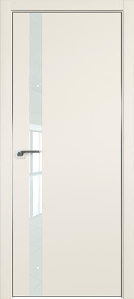 Дверь профиль дорс 6Е Магнолия сатинат - со стеклом