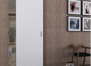 дверь профиль дорс 1d белая волна в интерьере