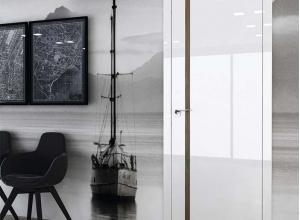 дверь профиль дорс 47vg белый глянец в интерьере