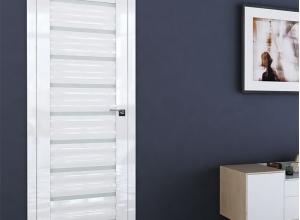 дверь профиль дорс 76l белый люкс в интерьере