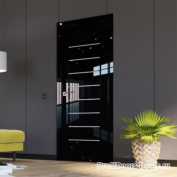 Профиль дорс Черный люкс - царговые двери