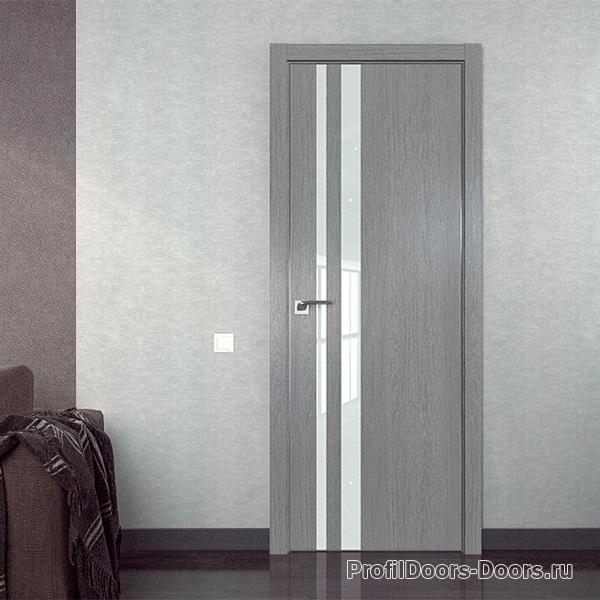 Профиль дорс Грувд серый - каркасные двери