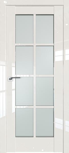 Дверь Профиль дорс 101L Магнолия люкс - со стеклом