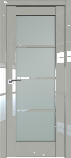 Дверь Профиль дорс 119L  Галька люкс - со стеклом