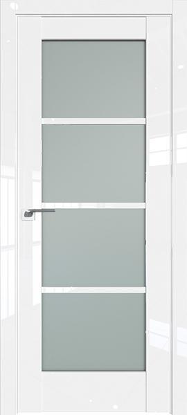 Дверь Профиль дорс 119L Белый люкс - со стеклом