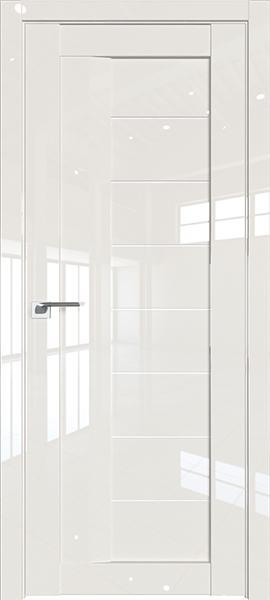 Дверь Профиль дорс 17L Магнолия люкс - со стеклом
