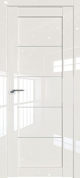 Дверь Профиль дорс 2.11L Магнолия люкс - со стеклом