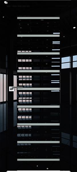 Дверь Профиль дорс 76L Черный люкс - со стеклом