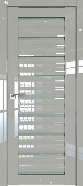 Дверь Профиль дорс 76L Галька люкс - со стеклом
