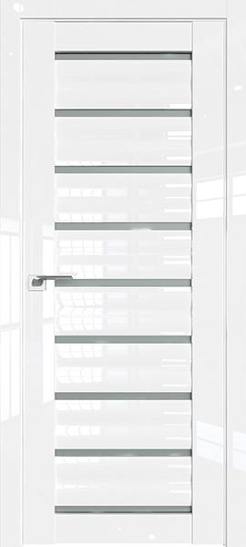 Дверь Профиль дорс 76L Белый люкс - со стеклом