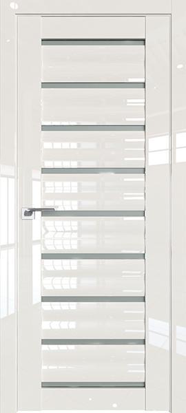 Дверь Профиль дорс 76L Магнолия люкс - со стеклом