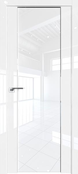 Дверь Профиль дорс 8L Белый люкс - со стеклом