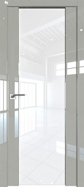 Дверь Профиль дорс 8L Галька люкс - со стеклом