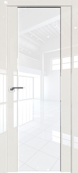 Дверь Профиль дорс 8L Магнолия люкс - со стеклом