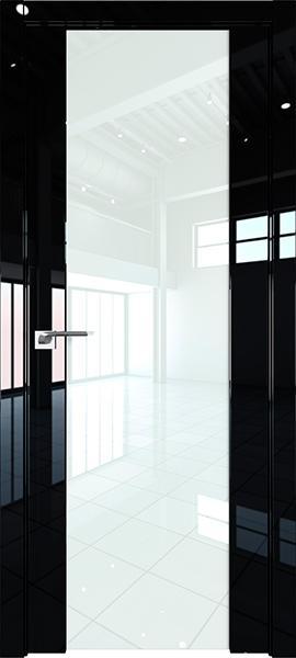 Дверь Профиль дорс 8L Черный люкс - со стеклом