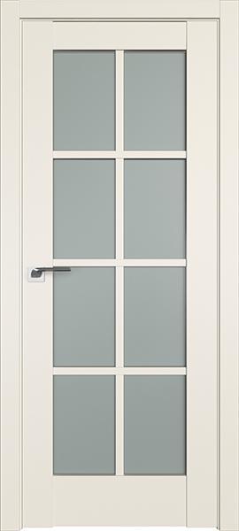 Дверь Профиль дорс 101U Магнолия сатинат - со стеклом