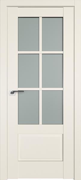Дверь Профиль дорс 103U Магнолия сатинат - со стеклом