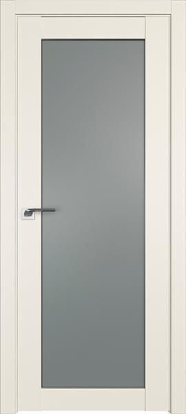 Дверь Профиль дорс 2.19U Магнолия сатинат - со стеклом