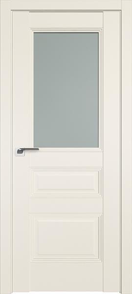 Дверь Профиль дорс 67U Магнолия сатинат - со стеклом