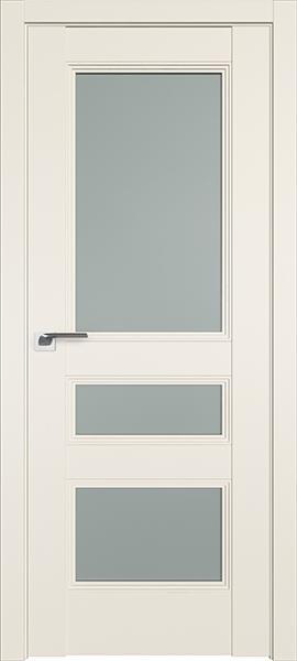 Дверь Профиль дорс 69U Магнолия сатинат - со стеклом