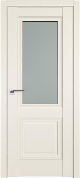 Дверь Профиль дорс 81U Магнолия сатинат - со стеклом