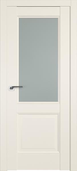 Дверь Профиль дорс 90U Магнолия сатинат - со стеклом