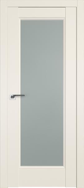Дверь Профиль дорс 92U Магнолия сатинат - со стеклом