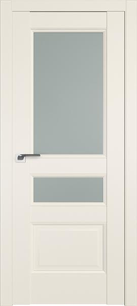 Дверь Профиль дорс 94U Магнолия сатинат - со стеклом