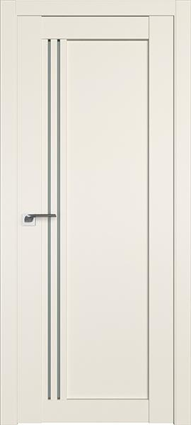 Дверь Профиль дорс 2.50U Магнолия сатинат - со стеклом