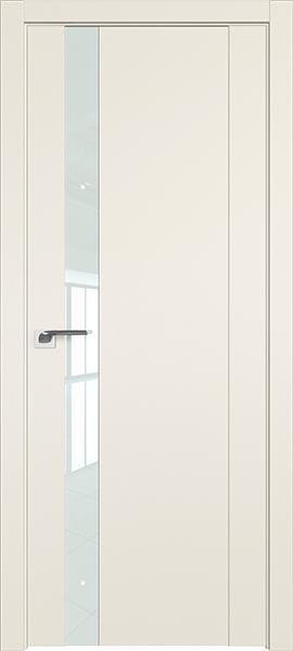 Дверь Профиль дорс 62U Магнолия сатинат - со стеклом