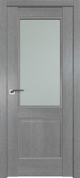 Дверь Профиль дорс 2.42XN Грувд серый - со стеклом