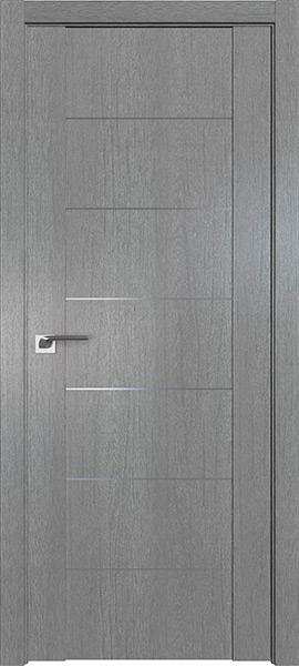 Дверь Профиль дорс 2.07XN Грувд серый - глухая