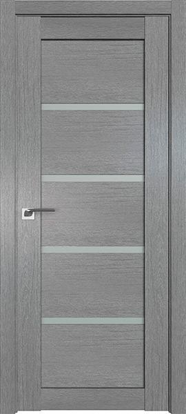 Дверь Профиль дорс 2.09XN Грувд серый - со стеклом