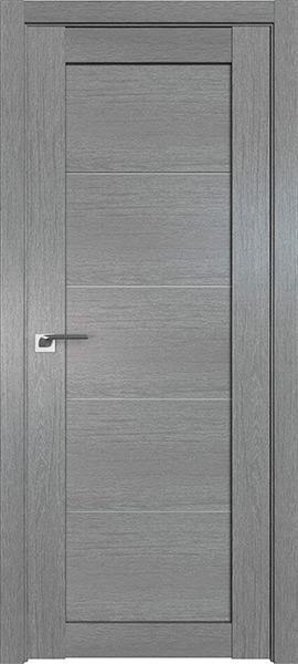 Дверь Профиль дорс 2.11XN Грувд серый - со стеклом