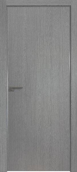 Дверь Профиль дорс 1ZN Грувд серый - глухая
