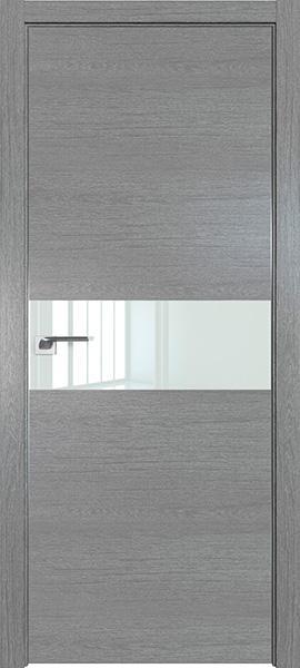 Дверь Профиль дорс 4ZN Грувд серый - со стеклом