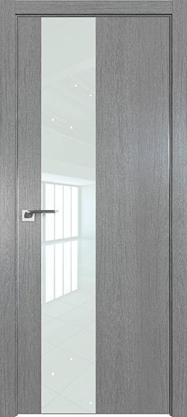 Дверь Профиль дорс 5ZN Грувд серый - со стеклом