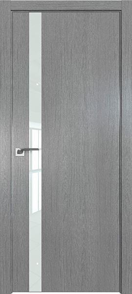 Дверь Профиль дорс 6ZN Грувд серый - со стеклом