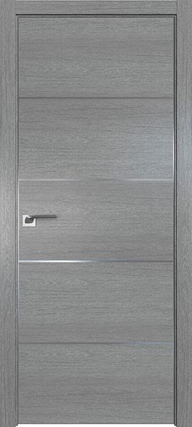 Дверь Профиль дорс 7ZN Грувд серый - глухая